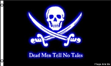 Dead Men Tell No Tales  (Neon Blue)